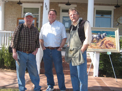 Michael Bingham, Roland Lee, and Craig Fetzer in front of the Impressions Gallery in St. Goerge Utah