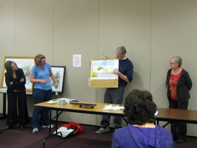 Artist Ian Ramsay demonstration for Southern Utah Watercolor Society in St. Goerge Utah