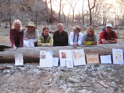 Roland Lee watercolor painting workshop in Zion National Park