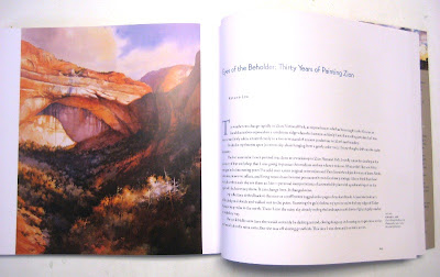 A Century of Sanctuary - the Art of Zion National Park containing the paintings of Roland Lee and Thomas Moran