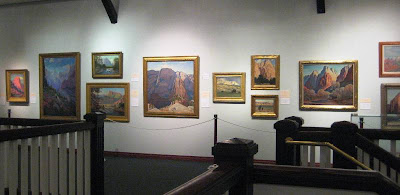 Some of the historic paintings on display at the Century of Sanctuary exhibit in St. George Utah