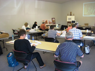 Roland Lee watercolor painting class sponsored by the Southern Utah Watercolor Society
