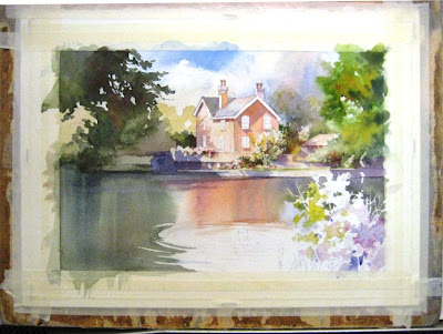 Painting sequence of Tonbridge England by Roland Lee