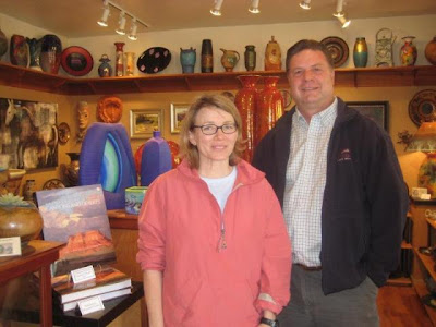 Donna Poulton author of the book Painters of Utah's Canyons and Deserts with artist Roland Lee