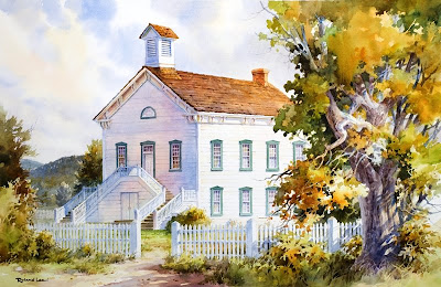 Roland Lee painting of the Pine Valley Chapel