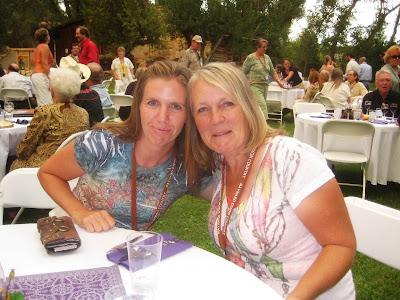 Artists Carol Johansen and Jennifer Johansen at Maynard Dixon Country gala in 2009