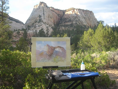 Roland Lee paining of East Zion National Park
