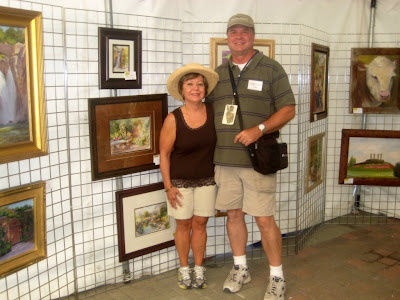 Roland Lee and Katherine Piper at Thanksgiving Point Plein Air Festival