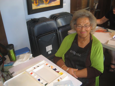 Artist Vicki Clayton in Roland Lee watercolor workshop