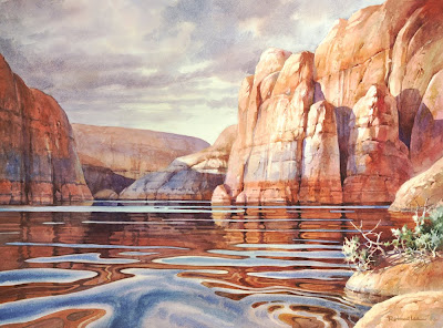Wateroclor painting of Lake Powell by Roland Lee