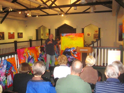 Jeff Ham speaking about his work at the St. George Art Museum