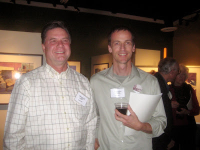 Roland Lee and artist Frank Eber at the NWS exhibit October 2010