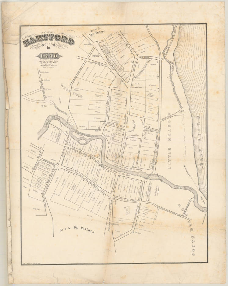 Sad City Hartford A Really Old Hartford Map