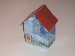 Recycled Christmas Card House