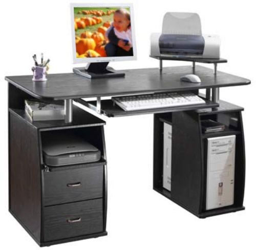 Metal and wood puter desk Wooden puter table