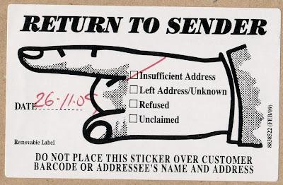 Stamps In Miniature World Return To Sender Letter
