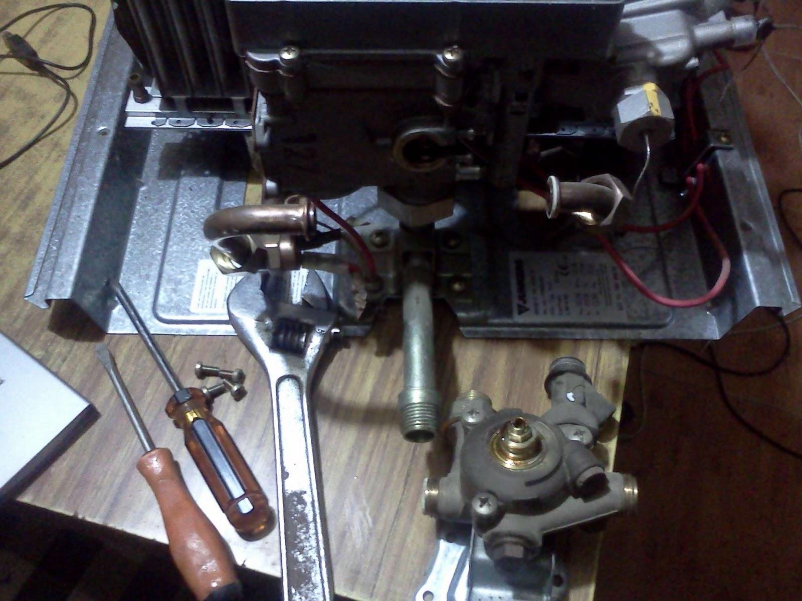 Reparar termo de gas