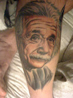 fred durst albert einstein tatoo leg