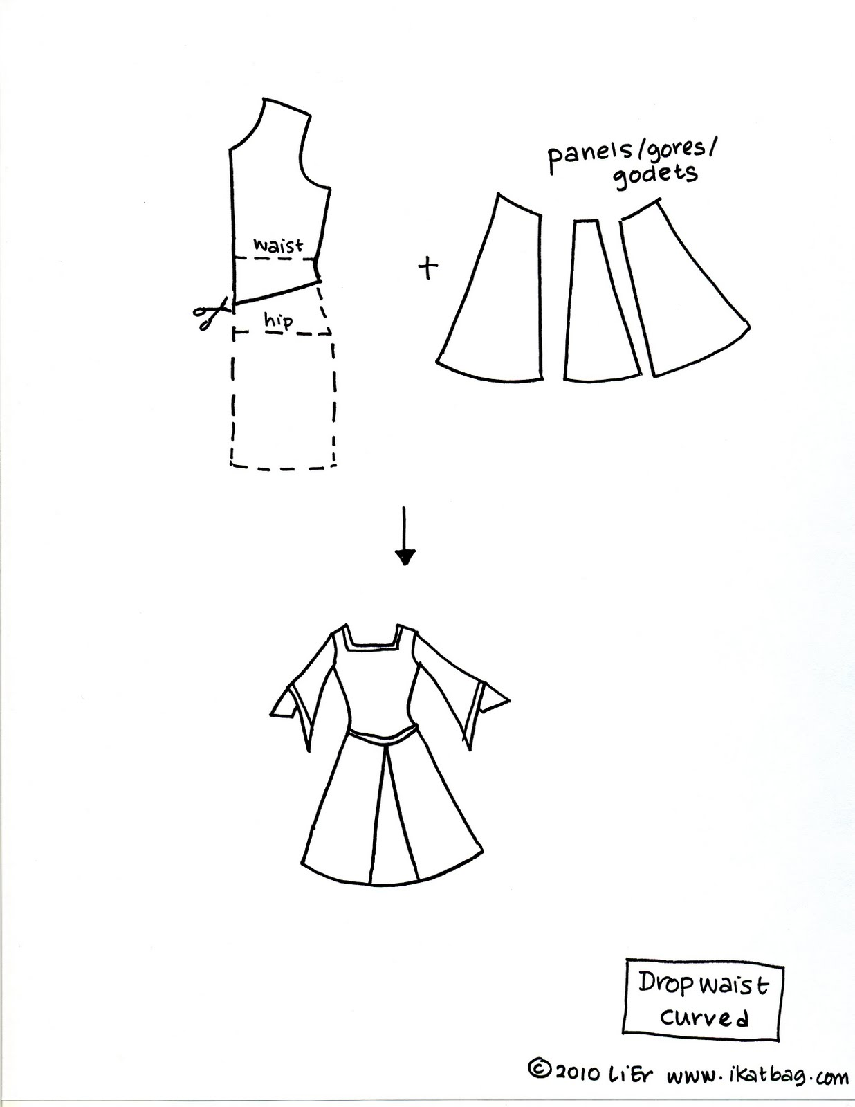 Festival Costumes Drawing The Second Variation Has Ease