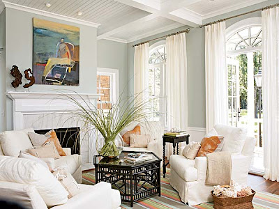 Shabby Chic Living Room. Living Room from Coastal