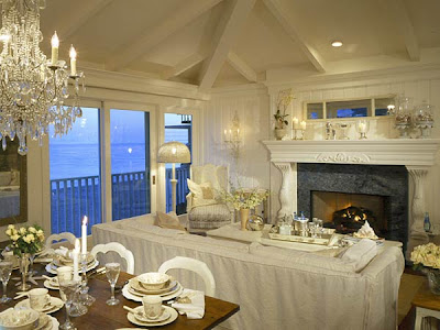 Decorating Living Room on Coastal Living Magazine Dining And Living Room  Very Elegant With The