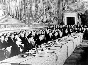Historia de la UE en imágenes: (se indica el año de la firma de los Tratados)