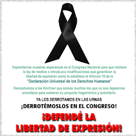 Apoyando a los Argentinos en su lucha por la libertad de expresion