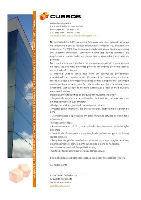 release de apresentação dos serviços prestados pela Cubbos consultoria