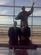 Arcobelli con il Segretario Generale CTIM On. Roberto Menia in Amarillo-Texas