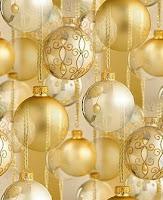 Golden Christmas Balls Wallpaper