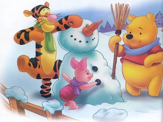 Winnie the Pooh Winter Christmas Backgrounds