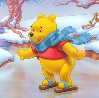Free Disney Pooh Xmas Background