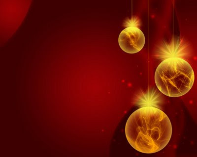 Christmas Lights Decorated Wallpaper