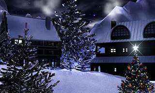 Animated Christmas Night Wallpaper