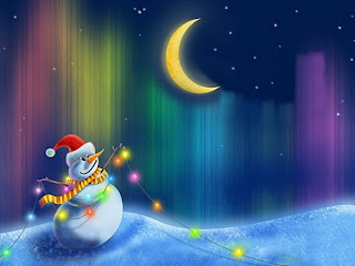 Myspace Snowman Christmas Backgrounds