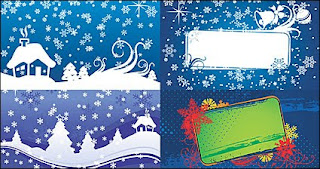 christmas snow house background