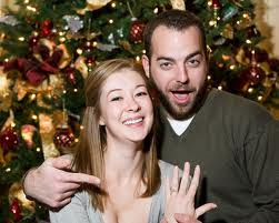 Christmas Couple Photo Background