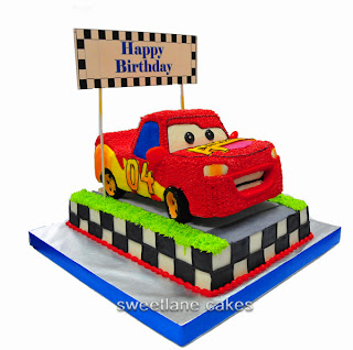 We Created This Cake For A 4 Year Old Boy Car And The Base Are Made With Chocolate Vanilla Cakes