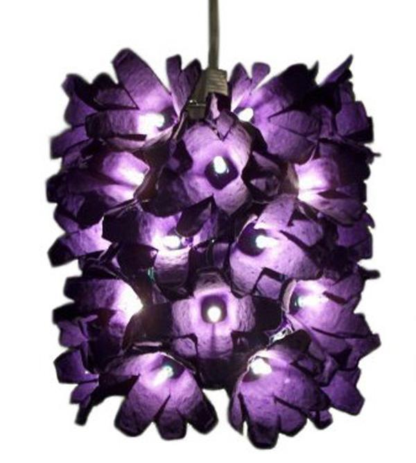 flower light 1 اعمال من كرتون البيض