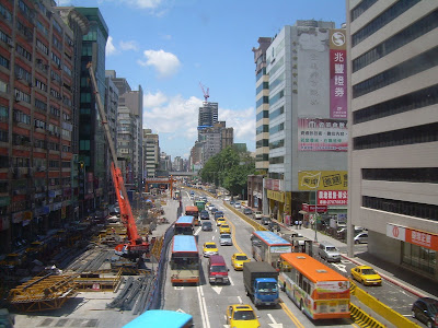 Taipei street construction