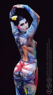 Body Painting Sexy Girl Tattoo
