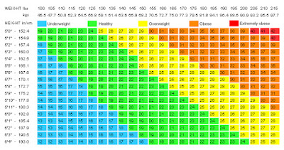 MyFabulousBoobies.com bmi-Chart-good-one Weight loss:  my BMI... made me sigh