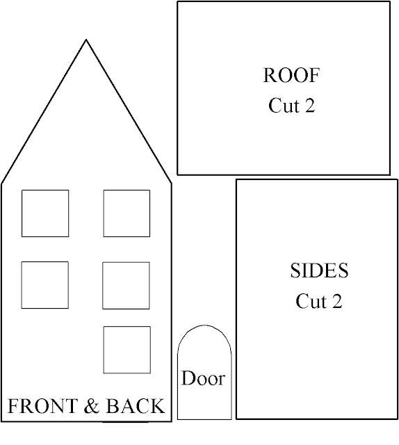 Paper House Template Here's another template for