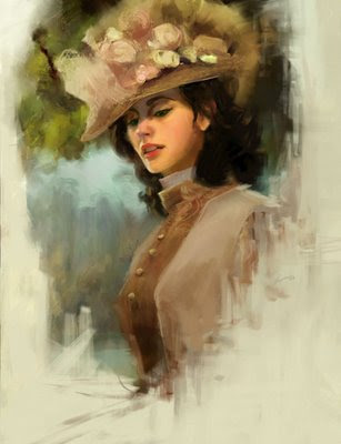 Woman Victorian painting fotos