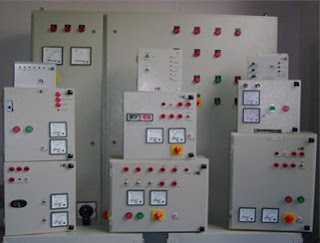 control panel of asphalt plant