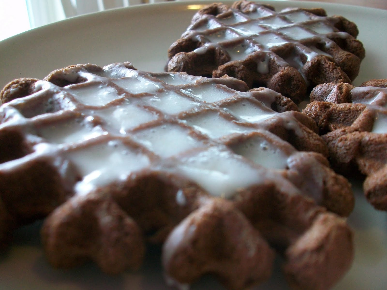 From Cupboard to Cupboard: Chocolate Waffle Cookies