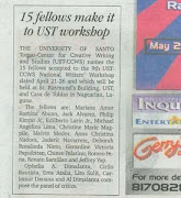 UST-CCWS 2008 Press Release sa Philippine Daily Inquirer