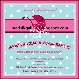 invitation for Majlis Aqiqah