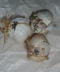 meine Shabby-Eier......