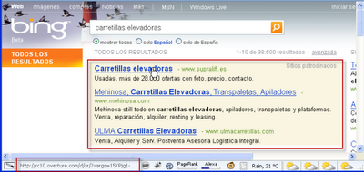 Bing using Overture for Ads?